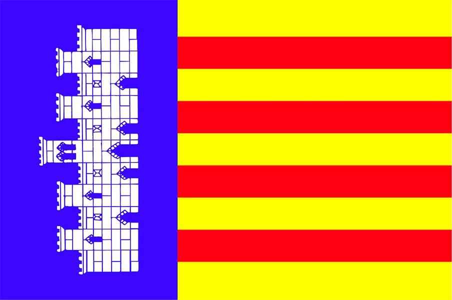 Resultado de imagen de mallorca bandera