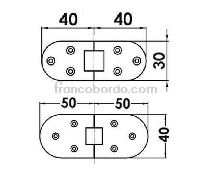 Bisagra semicircular 180 grados de microfundicion - Bisagra 180 grados cocina ...