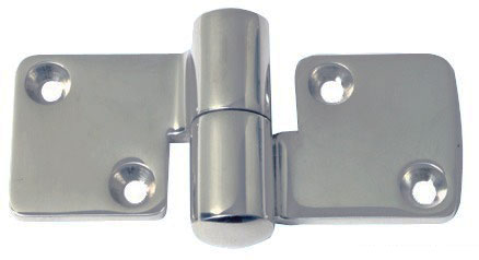 Bisagra acero inoxidable 100 x 50 mm grosor 5 mm for Bisagras acero inoxidable