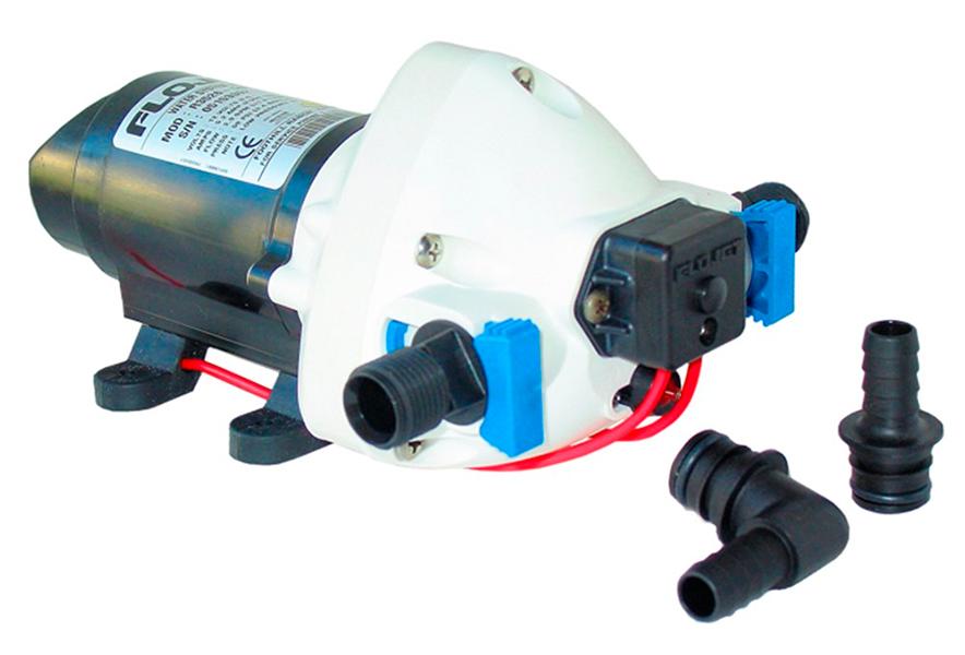 Bomba de agua a presion triplex 11 l min 24v flojet agua for Bombas de agua electricas de presion