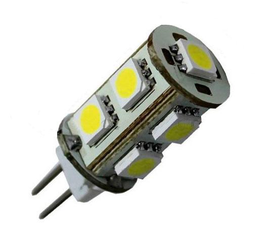 Bombilla 9 leds g4 12v electricidad nautica - Bombilla led 12v ...