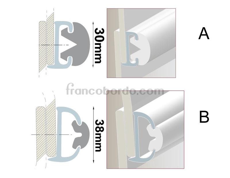 Cinton para perfil plastico flexible fondeo y amarre - Perfiles de plastico ...