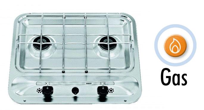 Cocina empotrada 2 quemadores hb 2370 confort a bordo for Cocinas para barcos
