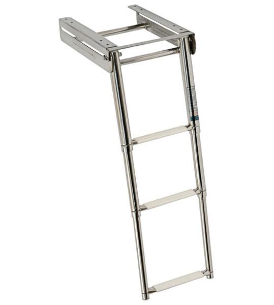 Escalera plegable inox pelda os ovalados fondeo y amarre for Escaleras 5 peldanos
