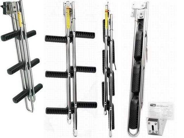 Escalera plegable y desmontable inox fondeo y amarre for Escaleras plegables extensibles