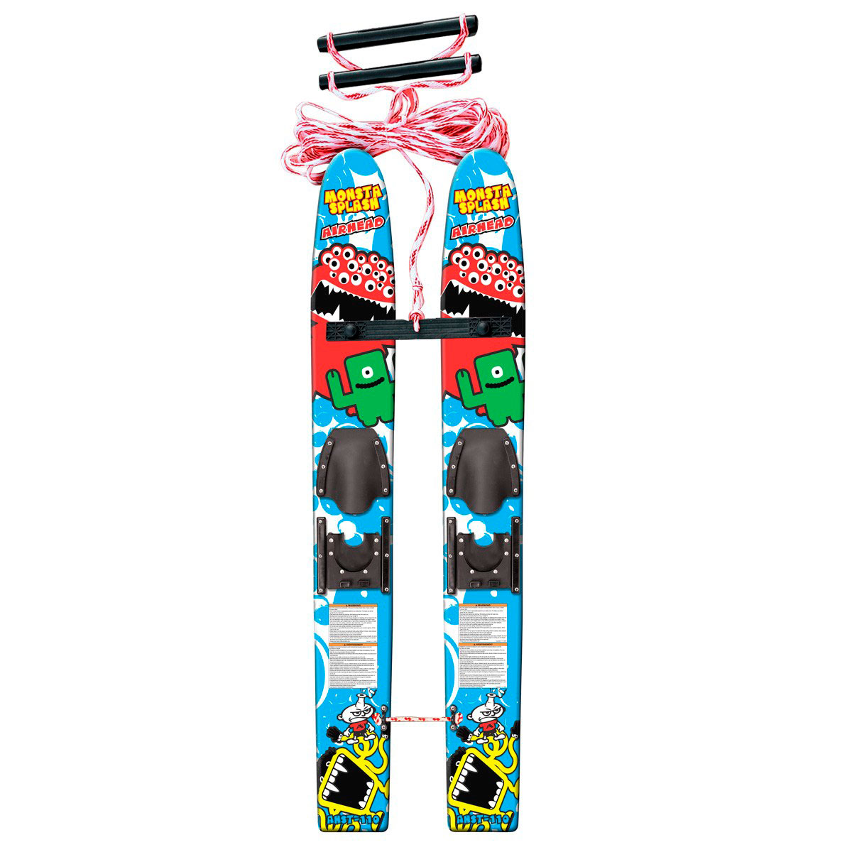 Monsta Splash Trainer Skis Airhead Tow Harness