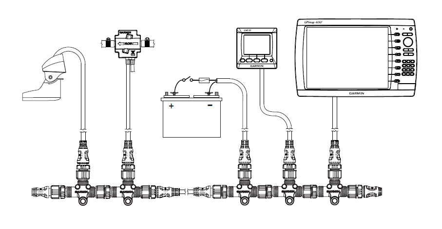 garmin conector nmea 2000 instalable macho  u0026gt  electronica