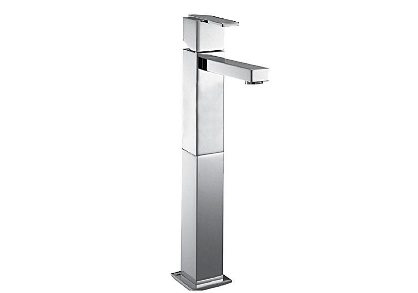 Grifo alto para lavabo de laton cromado agua a bordo for Grifos mezcladores para ducha