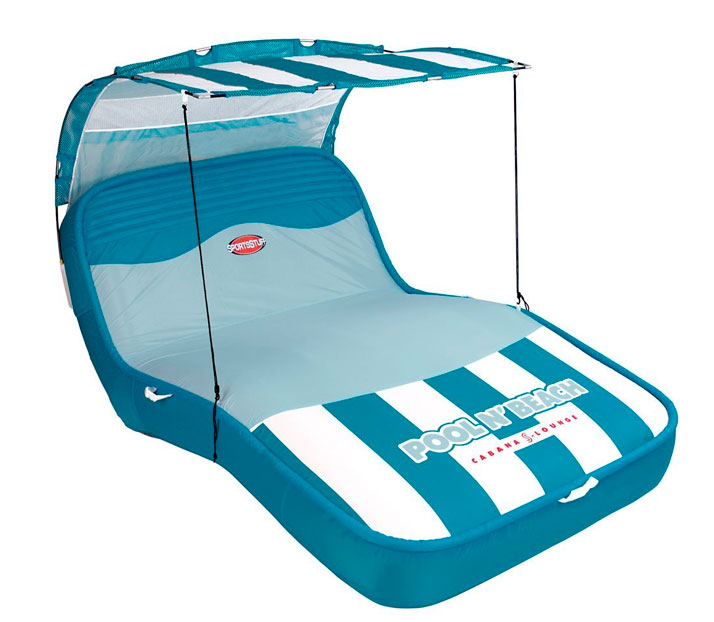 sportsstuff colchoneta tumbona pool and beach cabana