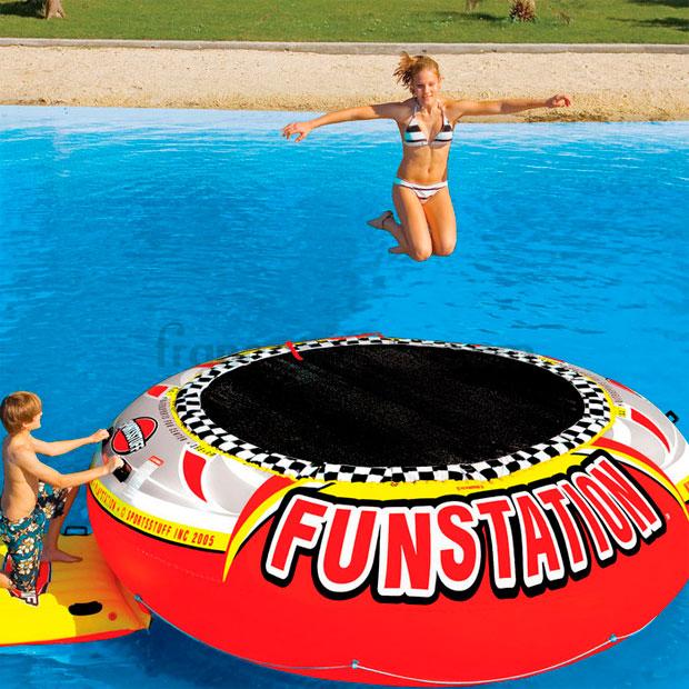 Sportsstuff trampolin cama elastica funstation 12 for Trampolin para piscina