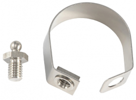 Stainless steel clamp with male