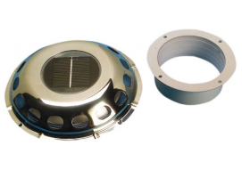 Stainless Steel Ventilator with Solar Cell