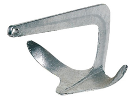 Trefoil anchor made of hot galvanized