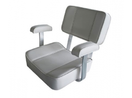 Aqualand White Deluxe Captain Seat