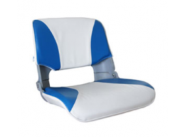 Aqualand Skipper Folding Seat with Blue-White Cushions