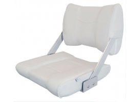 White Reverso Seat With Rotating Backrest