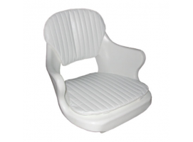 Polyethylene Seat with White Cushion
