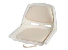 Fold Down Seat with White Cushion