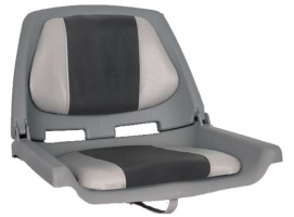 Fishermans Seat Folding Padded Grey/Charcoal