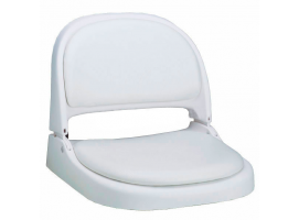 Attwood Folding White Seat with White Cushion