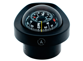 Autonautic Black-Conical Card Design Compass Flush Mount
