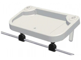 Bait and fish cleaning tray To Embed in Rod Holder