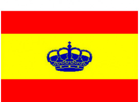 Spain with Crown Flag 225 x 150 cm
