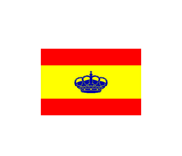 Spain Flag with Crown 45 x 30 cm