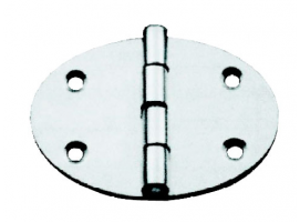 OVAL BUTT HINGE 84x56 mm