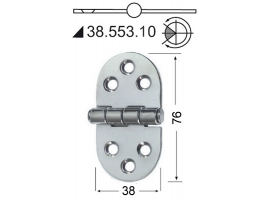2 mm Thickness 76 x 38 mm Stainless Steel Hinge