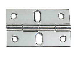 80 x 50 mm Stainless Central Oval Holes Steel Hinge
