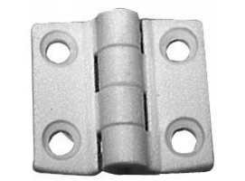 38 x 38 mm White Nylon Hinge