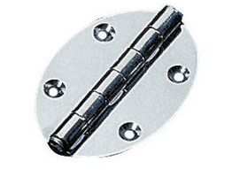 Oval Hinge with Inner Semi Inrush Shaft and Screw Mounting  78 x 56 mm