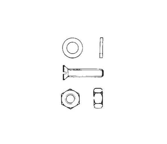 Blister Screws Nuts and Washers Kit