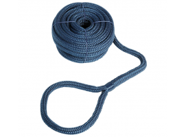 Mooring Line Double Braid with Eye Blue