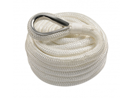 Spliced Mooring Line Double Braid White