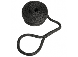 Mooring Line Double Braid with Eye Black