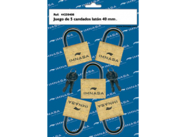 MARINE PADLOCKS BRASS SET OF 5