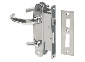Lock for W.C. units, fitted with internal locking system