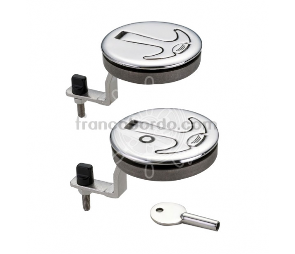 Lock for Hatches with Push Button