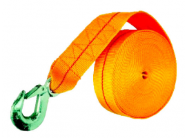 NYLON BELT WITH HOOK SUITABLE FOR TRAILER WINCHES
