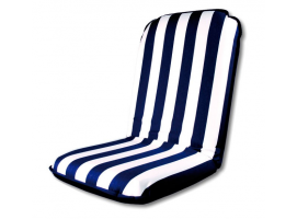 White-Blue Sunbrella Comfort Seat Cushion