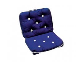 Double Blue Kapok Cushion 80 x 45 cm