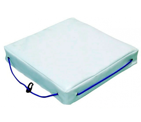 White Single Buoyant Deck Cushion