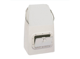 White Fiberglass Steering Console for Dinghies 40x48x81cm