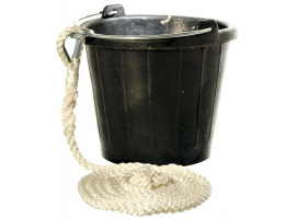 Bucket Pail 8L Rubber with Handle in SS