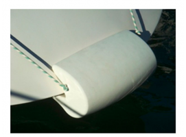 Popa Fender for sailboats from 75 to 90 Degrees