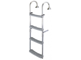 Stainless Steel Folding Ladder with 180 Crook