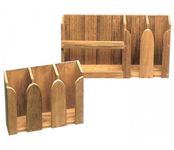 Teak for plates-smugs rack