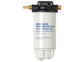 Fuel filter with water-fuel separator high capacity